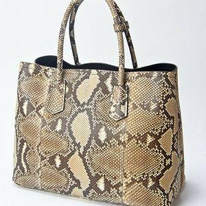 Prada Bags - Prada XL Genuine Python Snake Skin Double Tote